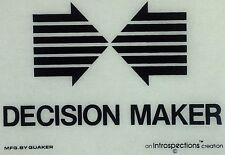 Original Vintage Decision Maker Iron On Transfer Black Ink