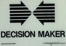 Vintage 70s Decision Maker Iron On Transfer Color: Black RARE!