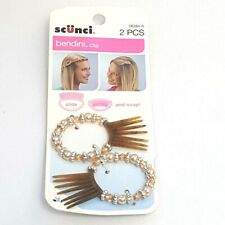 Scunci Bendini Beaded Hair Clip 2 PCS Slide And Snap 38284-A