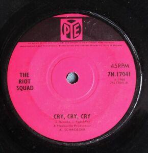 "THE RIOT SQUAD Cry, Cry, Cry UK 7"" Joe Meek RGM Pye 7N 17041 G+ 1966 MOD"