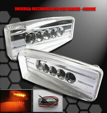 UNIVERSAL BUMPER YELLOW LED SIDE MARKER LIGHT SET GALANT G3 G5 SUNFIRE WAVE NEON