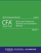 2018 CFA Level1 Kaplan Schweser Notes:Books 1-5, Exam Quick Sheet