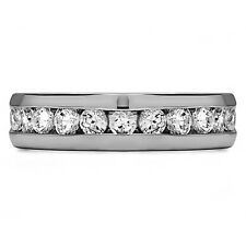 0.50 Ct Natural Diamond Engagement Band 14K Solid White Gold Mens Ring Size R S