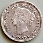 1890 Canada Canadian 5 Cent Silver Victoria Coin