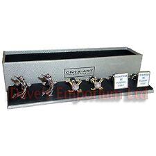 Lot de 3 GOLF Boutons manchette - Onyx Art - Cadeau en boîte - GOLFEUR liens