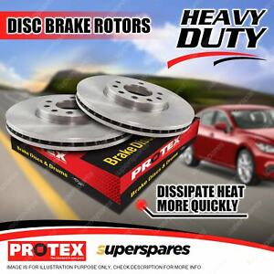 2 Front Protex Disc Brake Rotors for Ford Courier PC 2WD Econovan JD Spectron