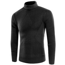 Casual Suéter De Hombre Pulóver Cuello Alto Manga Larga Crema Jersey Moda