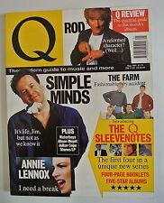 Q Magazine. May, 1991. Simple Minds. The Farm. Annie Lennox. Alison Moyet.