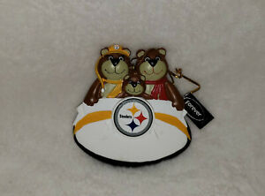 Forever Collectibles NFL Pittsburgh Steelers 3 Bear Christmas Ornament