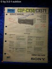Sony Service Manual CDP CX50 /CX571 CD Player (#6638)