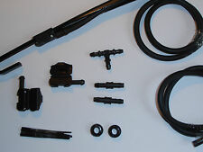 BMW 3 series Windscreen Washer Jets Conversion Kit bonnet/scuttle to Wiper Arms