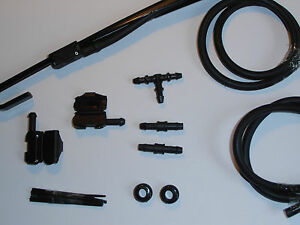BMW Windscreen Washer Jets Conversion Kit .(bonnet/scuttle to Wiper Arms blade )