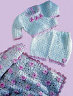 Baby or Dolls CROCHET PATTERN Rose Shawl Blanket Jumper Shorts 12 - 18 inch COPY
