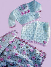 Baby Top Pants Shawl Blanket CROCHET PATTERN 4 Chest Sizes 12-18 inch 31-46 COPY