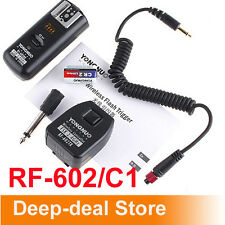 RF-602 C1 Wireless Remote Shutter release FLash Trigger f Canon 1000D 500D 450D