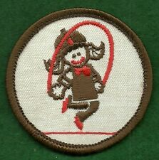 VINTAGE GIRL SCOUT TRY-IT BADGE - BROWNIE PRE TRY-ITS - JUMP ROPE