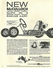 Vintage 1960's McCulloch 200 Racing Go-Kart Ad