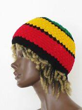 Rasta Strick Mütze_Knitted Hat_Scull Cap_Reggae, Hippie