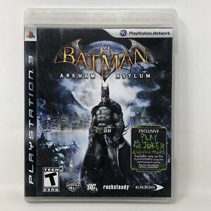 Batman: Arkham Asylum - Sony PlayStation 3 PS3 - Complete w/ Manual
