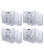 12 pezzi di boxer uomo in cotone 100% con apertura e bottone bianco disegno 12BX