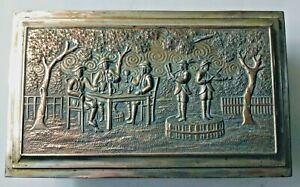 Antique Pewter Trinket / Jewelry / Cigarette Box Made in Japan