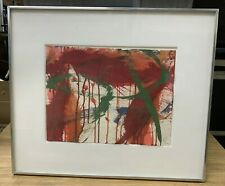 """Norman Bluhm, Original Abstract Gouache on Paper Painting, """"Bananas"""" 1962"""