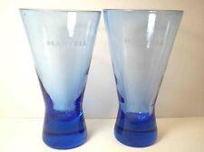 New listing Martell Cognac Cobalt Blue cocktail cordial glasses Pair 2 6 oz
