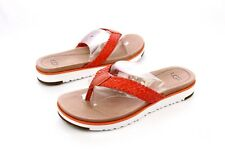 UGG LORRIE FIRE OPAL WOVEN LEATHER SANDALS SIZE 10 US WOMENS