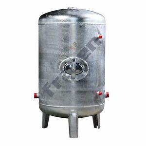 Druckbehälter 100-500 L 6 b senkrecht verzinkt Druckwasserkessel Druckkessel