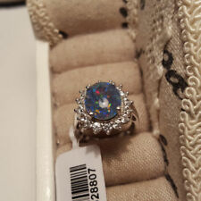 Zircon Not Enhanced Solitaire with Accents Fine Rings