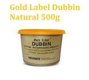 Gold Label Dubbin Natural 500g WATERPROOF