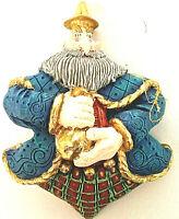 Vintage Dept 56 We Three Kings Wise Men Whimsical Bearded Plump Ornament
