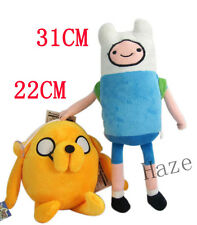 2PCS Adventure Time toys cosplay Finn and jack Plush Doll Toy anime gifts new