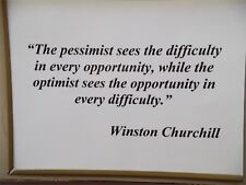 Winston Churchill's Motivation FRIDGE MAGNET (2.5 x 3.5 inches)(AC)