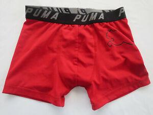 Puma Red Boxer Briefs Underwear Boys L 10 /12