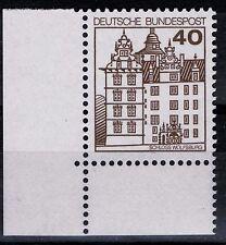 BRD Burgen und Schlößer Mi. - Nr. 1037 A I u Ecke unten links postfrisch
