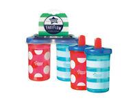 `Tommee Tippee Free Flow Super Sipper Bottles x 2