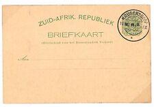 Q95 1901 S.Africa TRANSVAAL*VRI* BOER WAR Stationery Card CTO*Krugersdorp* Super