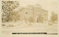 Decatur County High School Oberlin Kansas 1912 Zercher RPPC Photo Postcard 7258