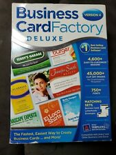 Business Card Factory Deluxe, Version 4, Windows DVD-ROM