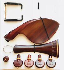 MI&VI Rosewood Violin Kit-Tailpiece,Pegs,Endpin,Tailgut,Chinrest Metal Bracket