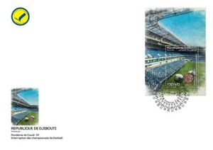 DJIBOUTI 2020 - FDC - SOCCER FOOTBALL INTERRUPTION - PANDEMIC PANDEMIE - RARE