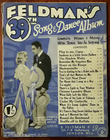 Feldmans 39th Song & Dance Album, Home On The Range, Play To Me Gypsy Pub. 1930s