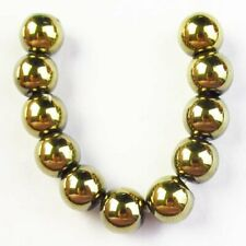 11Pcs/Set 8mm Gold Hematite Ball Pendant Bead S12582