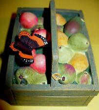 Mwt Marjolein Bastin fruit basket crate butterfly trinket box Natures Sketchbook