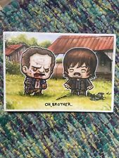 The Walking Dead Daryl et Merle Dixon Oh frère Butin Crate Exclusive Imprimé