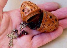 Ancien chapelet religieux chrétien argent massif antique solid silver rosary