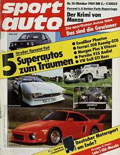 sport auto 10/84 1984 Andial Porsche 935 Lola T/616 Lotus 95T Kadett GSi Gr. A