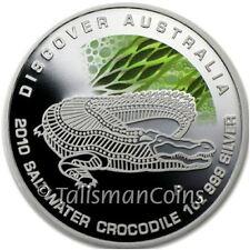 Australia 2010 Discover Australia Dreaming Saltwater Crocodile $1 Silver Proof