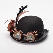 Vintage Steampunk Feather Spike Goggle Hat Women Fancy Dress Party Costume Hat